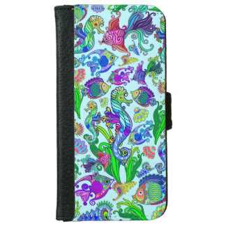 Marine Life Exotic Fishes & SeaHorses iPhone 6 Wallet Case