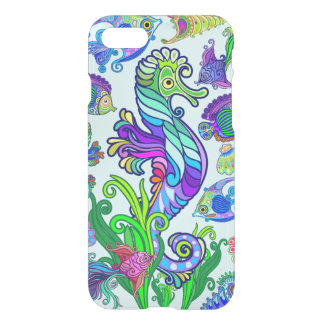 Marine Life Exotic Fishes & SeaHorses iPhone 8/7 Case