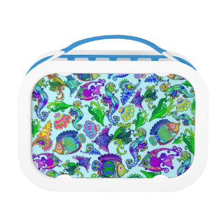 Marine Life Exotic Fishes & SeaHorses Lunch Boxes
