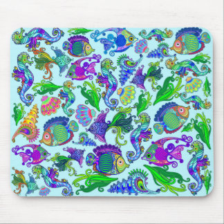 Marine Life Exotic Fishes & SeaHorses Mouse Pad