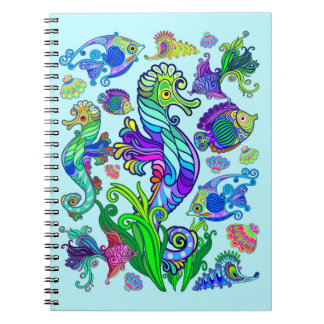 Marine Life Exotic Fishes & SeaHorses Notebook