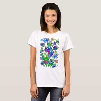 Marine Life Exotic Fishes & SeaHorses T-Shirt