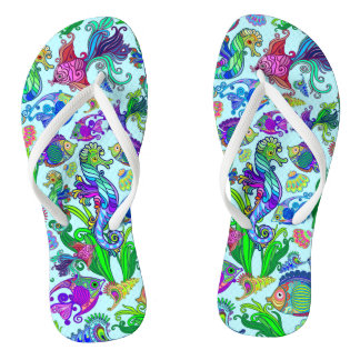 Marine Life Exotic Fishes & SeaHorses Thongs