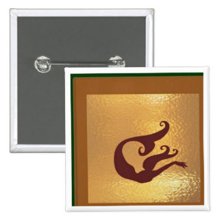 Marine Life Fish Deep Sea - Medal Icon Gold Base 15 Cm Square Badge
