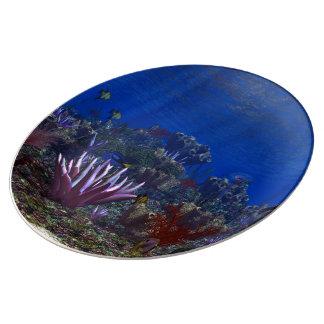 Marine Life Porcelain Plates
