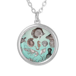 Marine Life Silver Plated Necklace