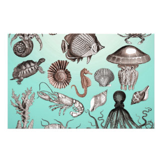 Marine Life Stationery
