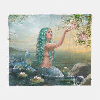 Marine Mermaid Fleece Blanket