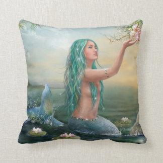 Marine Mermaid Throw Pillow Cushion