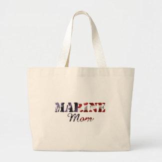 Marine Mom American Flag Jumbo Tote Bag