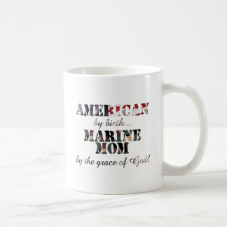 Marine Mom Grace of God Mugs