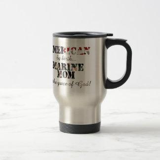 Marine Mom Grace of God Travel Mug