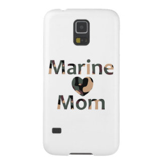 Marine Mom Heart Camo Galaxy S5 Covers