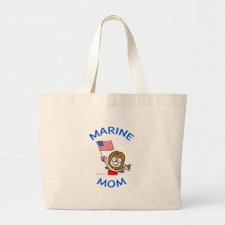 marine mom marines corps patriotism canvas bags