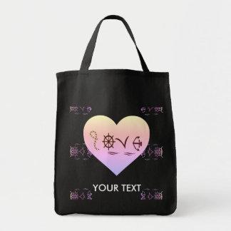 Marine nautical love tote bag