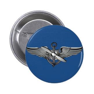 marine pilot wings 6 cm round badge
