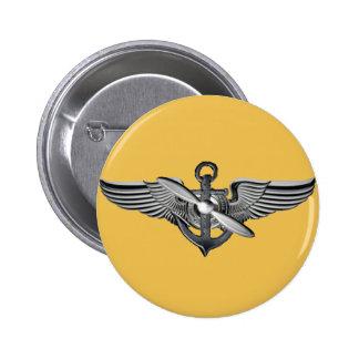 marine pilot wings gold 6 cm round badge