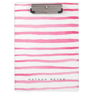 Marine Red and White Stripe Watercolor Clipboards