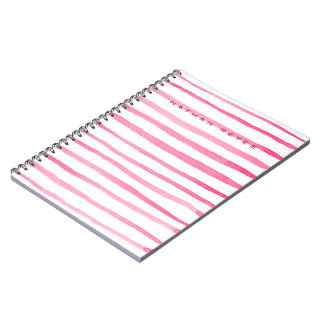 Marine Red and White Stripe Watercolor Notebooks