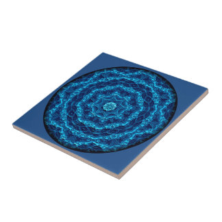 Marine Screen Vignette Mandala Tile