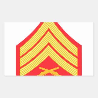Marine Sergeant Rectangular Sticker