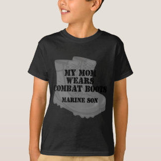 Marine Son Mom Combat Boots T-Shirt