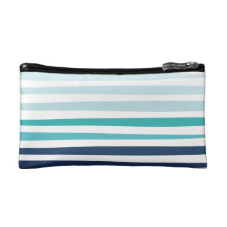 Marine Stripe Pouch Cosmetic Bags