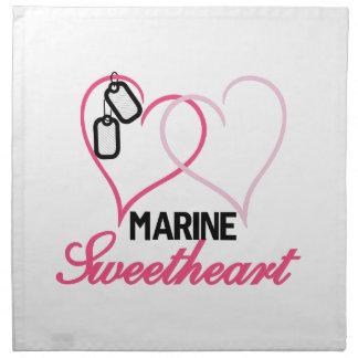 Marine Sweetheart Napkins