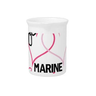 Marine Sweetheart Drink Pitcher