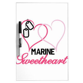 Marine Sweetheart Dry-Erase Whiteboard
