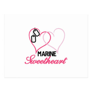 Marine Sweetheart Postcard