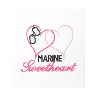Marine Sweetheart Scratch Pads