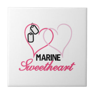 Marine Sweetheart Small Square Tile