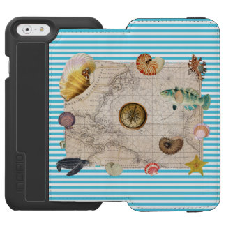 Marine Treasure Blue Stripes Incipio Watson™ iPhone 6 Wallet Case