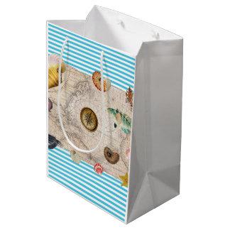 Marine Treasure Blue Stripes Medium Gift Bag