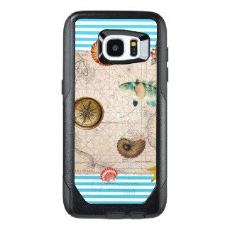 Marine Treasure Blue Stripes OtterBox Samsung Galaxy S7 Edge Case