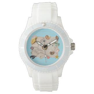 Marine Treasure Blue Stripes Watch