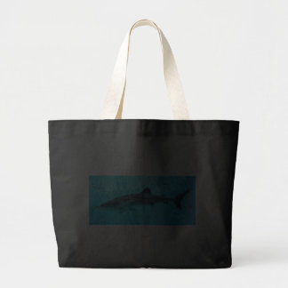 Marine Water Chic Stylish Cool Blue Whale Shark Jumbo Tote Bag