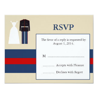 Marine Wedding Invitation RSVP Card