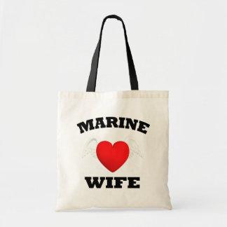 Marine Wife Canvas Bag