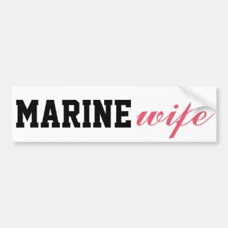 Marine wife bumper sticker