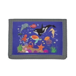 Marine World, Marine Animals, Sea Animals, Ocean Trifold Wallet