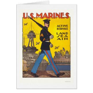 Marines - active service - land, sea, air card
