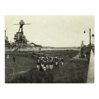 Marines arriving for Remembrance Day ceremony 1 Postcard