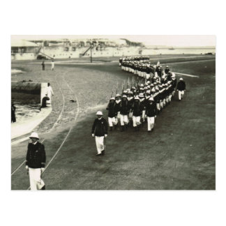 Marines arriving for Remembrance Day ceremony Postcard