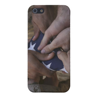 Marines fold an American flag iPhone 5/5S Cases