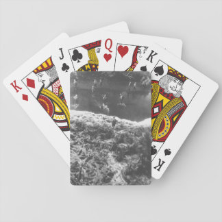 Marines hit three feet of rough water _War Image Poker Deck