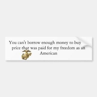 marines_logo[1], You can't borrow enough money ... Car Bumper Sticker