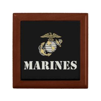 Marines [stencil] small square gift box
