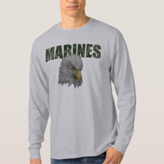 MARINES with Eagle Long Sleeve Shirt